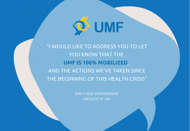 [COVID-19] Jean-Claude Sarremejeanne's message to UMF members